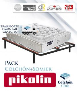 Pack Pikolin, colchón Gama Alta modelo Dualpik de muelles ensacados y somier multiláminas Ref P272000