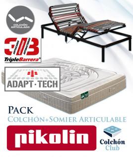 Pack Pikolin, colchón modelo Activepik Artic y Somier Articulable Ref P275000