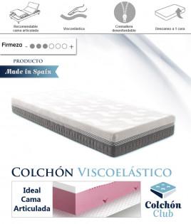 Colchón Viscoelástico Perfilado para Cama Articulada Desenfundable con Nucleo Compact Form Ref K35100