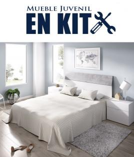 Dormitorio Matrimonial formado Cabecero y 2 mesitas Ref YK35