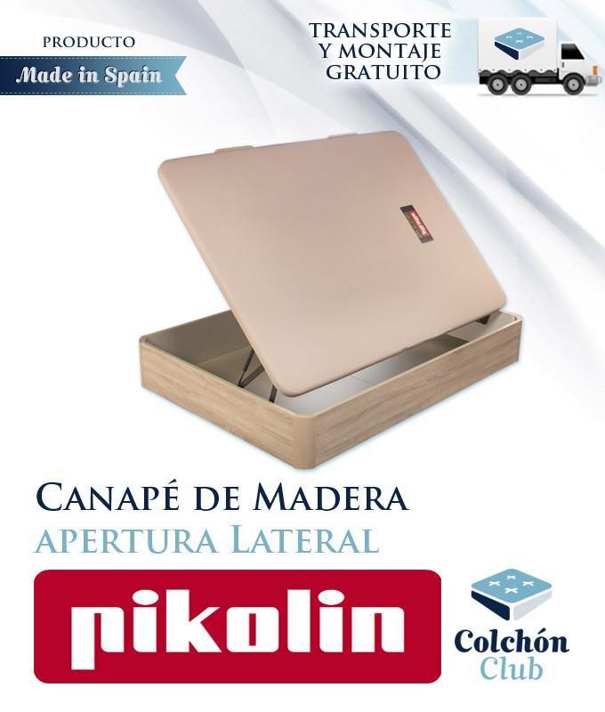 Canapé Pikolin modelo Naturbox matrimonial con apertura lateral Ref P50100