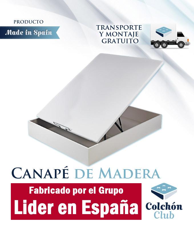 Canapé de Madera Fabricado por el Grupo Lider en España con Tapa Tapizada 3D Ref P183100