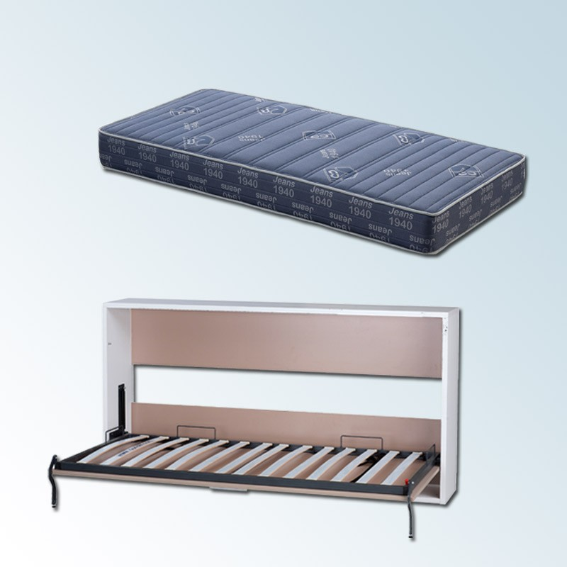 Pack cama abatible horizontal y colch n viscoel stico for Canape para colchon viscoelastico
