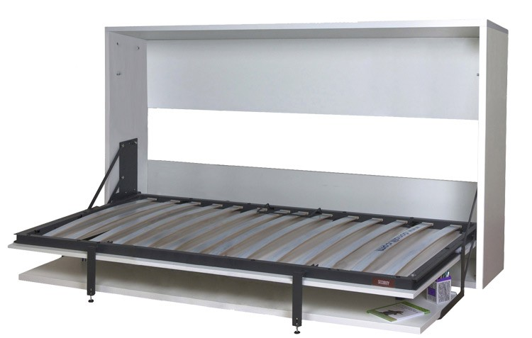 Pack cama abatible horizontal con escritorio y colch n for Colchon para sofa cama plegable