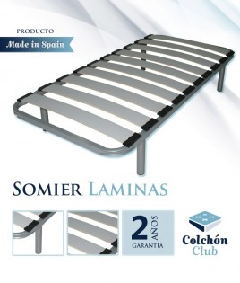 Somier de Lama ancha disponible en color Plata o Negro Ref S11100