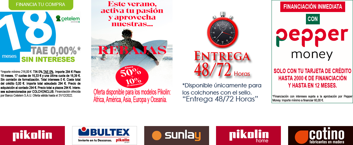 Ofertas Packs Pikolin